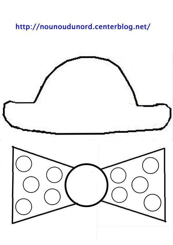 gabarit chapeau et noeud de dessin par nounoudunord. Black Bedroom Furniture Sets. Home Design Ideas