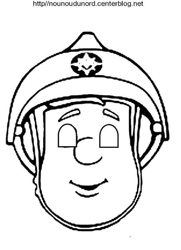 Masque sam le pompier - Coloriage de sam le pompier a imprimer ...