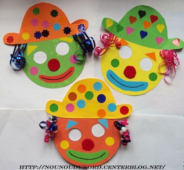 masques clowns pour le carnaval janvier 2010. Black Bedroom Furniture Sets. Home Design Ideas