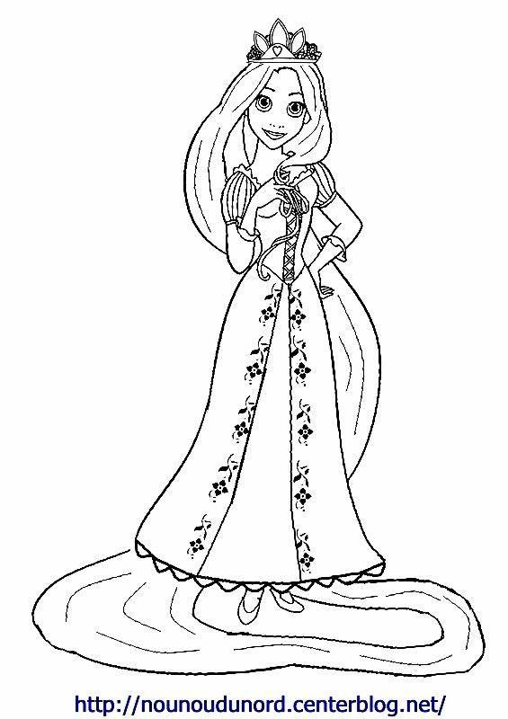 Coloriage princesse a imprimer - Coloriage raiponce ...