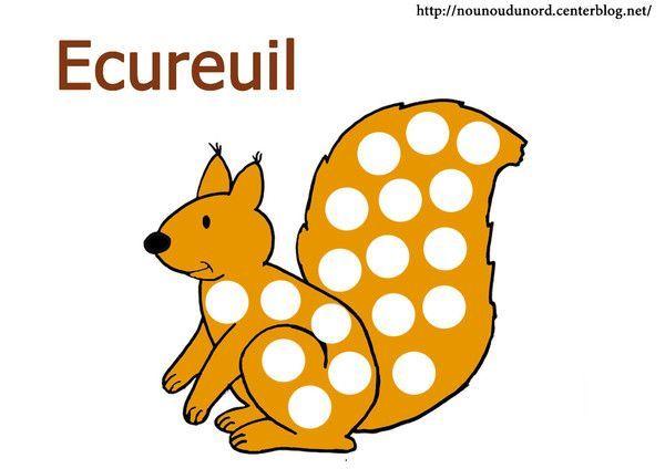 Coloriage automne ecureuil - Achat materiel bricolage en ligne ...