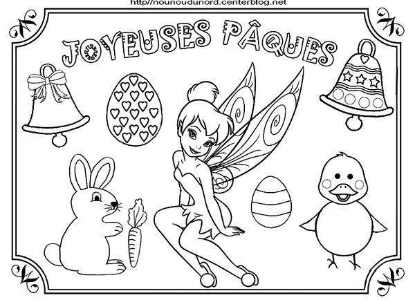 Coloriage paques heros des enfants - Coloriage de fee a imprimer ...