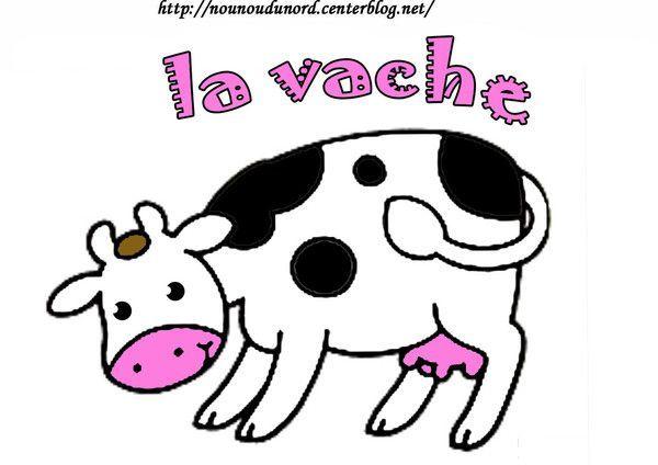 Coloriage la vache gommette centerblog - Vache en dessin ...