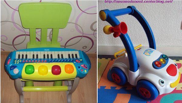 piano et pousse pousse petite voiture musical