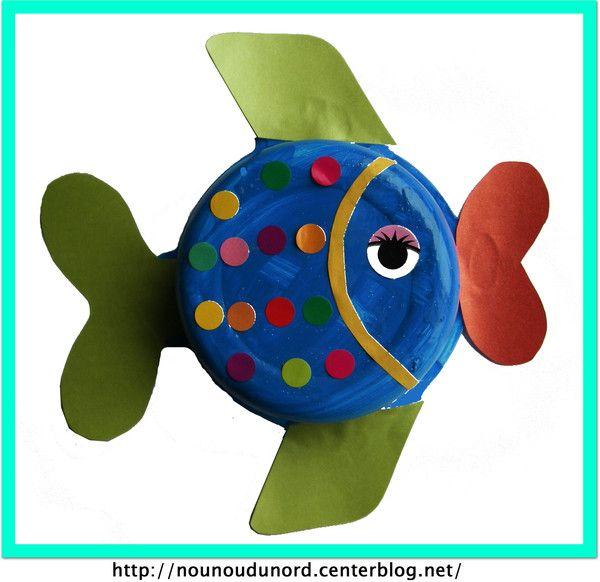 Lison a réalisé ce poisson avec un plat bébé blédichef