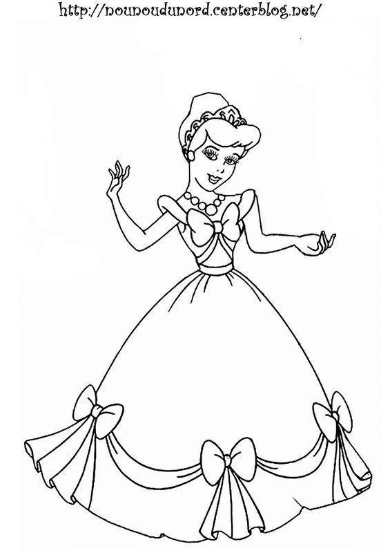 Coloriage princesse dessin par nounoudunord - Coloriage des princesses ...