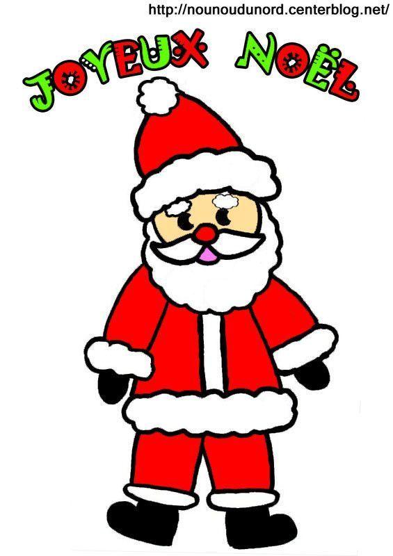 Image Père Noël En Couleur