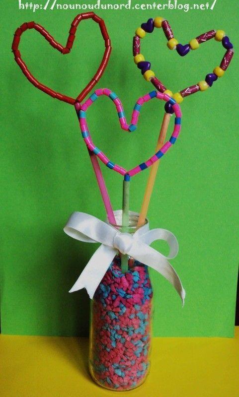 bouquet de coeurs avec des perles pour sa maman 2011. Black Bedroom Furniture Sets. Home Design Ideas
