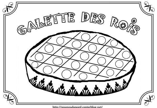 Coloriage la galette des rois gommettes - Dessin sur galette des rois ...