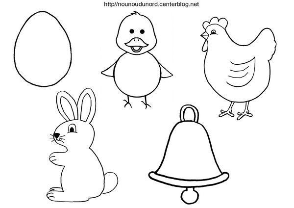 Coloriage paques gommettes - Coloriage lapin paques ...