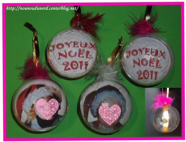 Boules de no l d cor es diff remment centerblog - Petit cadeau sympa pour noel ...
