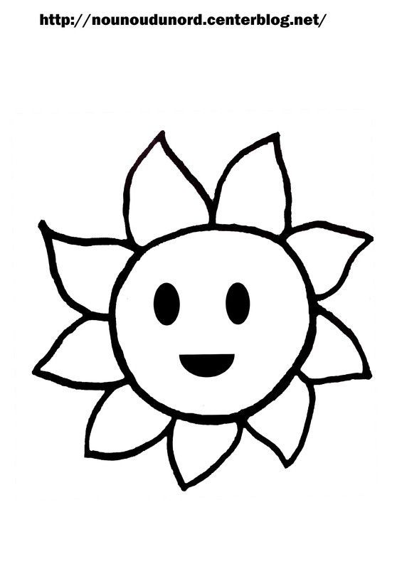 dessin a imprimer d'un soleil