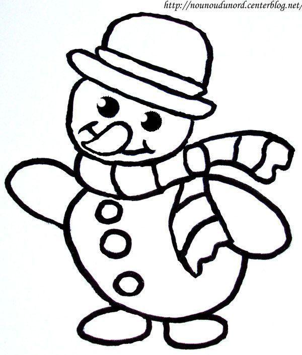 Coloriage noel bonhomme de neige - Dessin de neige ...