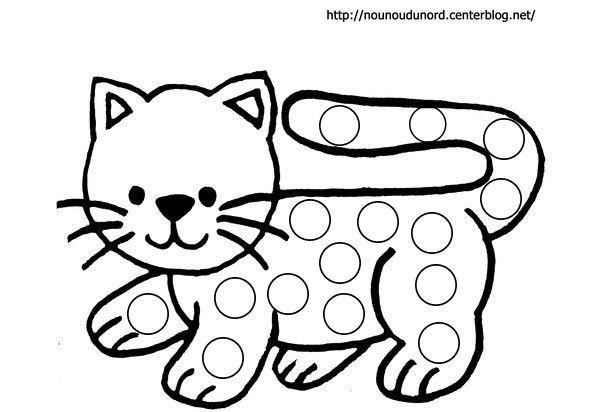 Relativ à gommettes le chat dessiné par nounoudunord. TG65