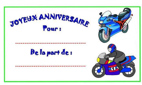 Préférence Etiquettes Moto pour les cadeaux d'anniversaire WB21