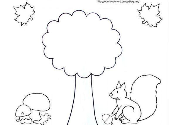 Coloriage tableau d 39 automne dessin par nounoudunord - Activite automne maternelle ...