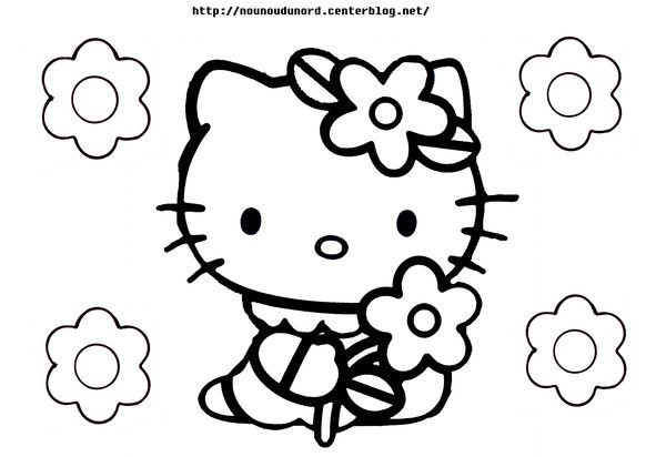 Coloriage hello kitty dessiné par nounoudunord