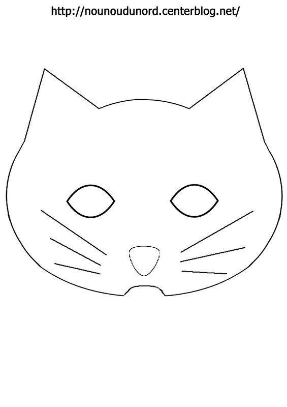 Masque chat imprimer - Masque de chat a colorier ...