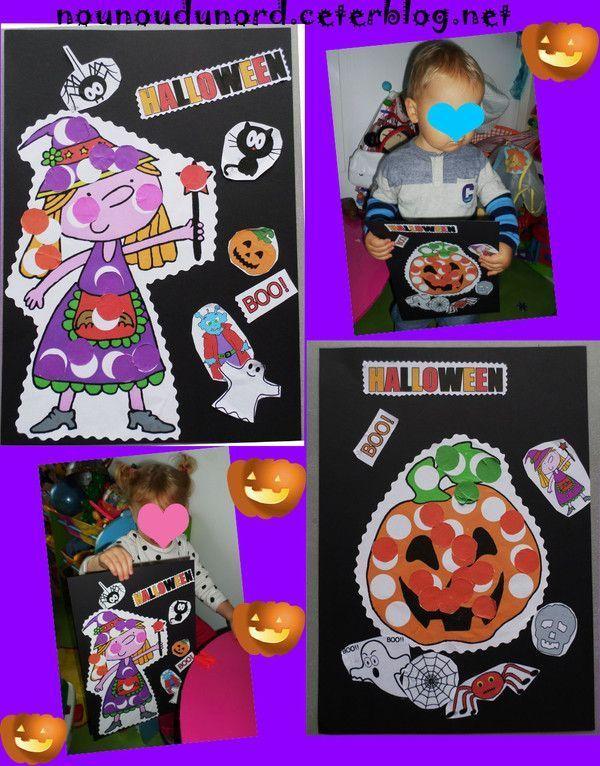 tableaux pour Halloween de Charlie et Arthur