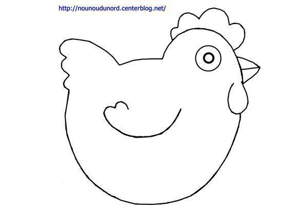 Coloriage de p ques la poule dessin par nounoudunord - Poule de paques a imprimer ...