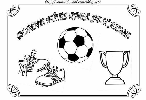 Coloriage foot pour la f te des p res par nounoudunord - Idee dessin fete des peres ...