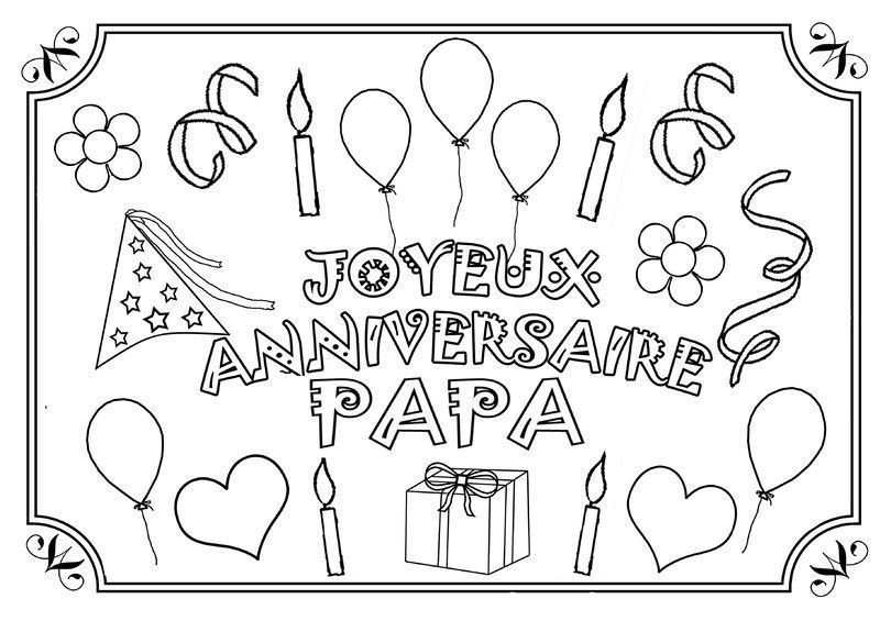 anniversaire papa coloriage dipl me texte gommettes. Black Bedroom Furniture Sets. Home Design Ideas