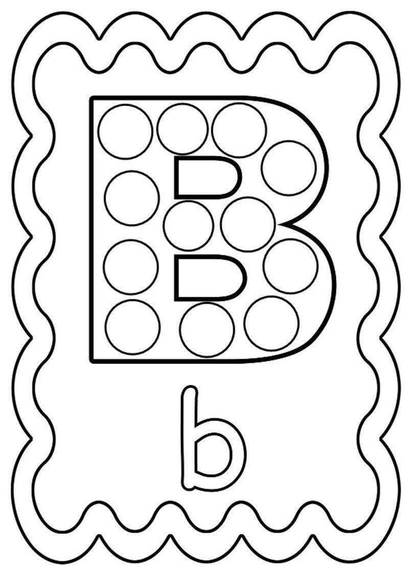 Coloriage lettre b colorier ou gommettes - Coloriage de lettre ...