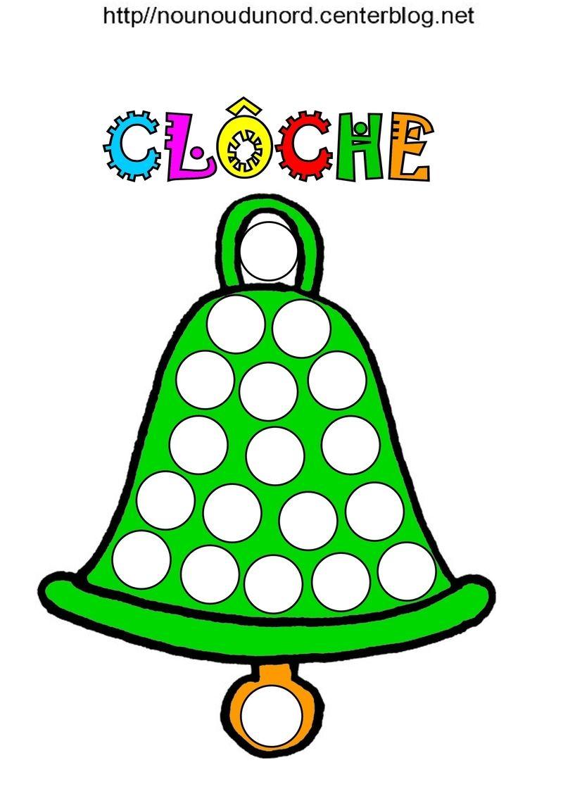 Cl ches pour gommettes colorier et en couleur - Dessin cloche ...