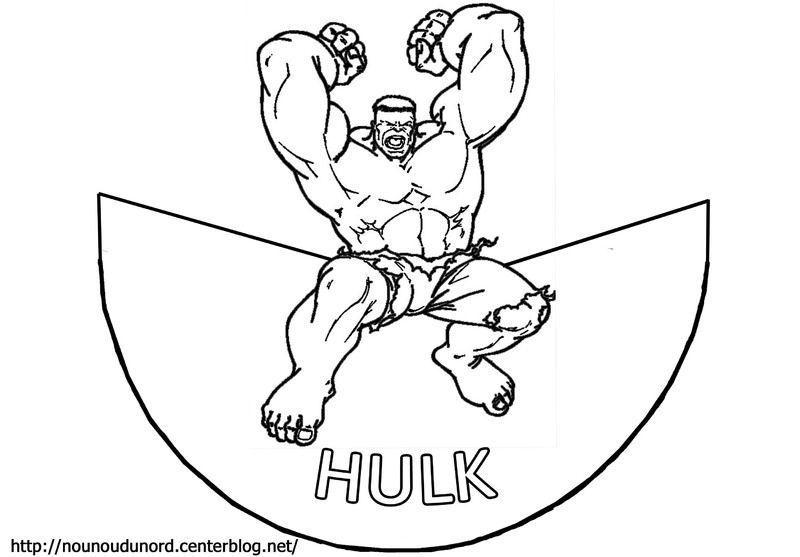 Coloriage c ne hulk - Coloriage de hulk ...