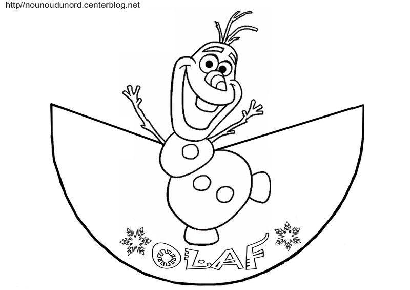 Reine Des Neiges Elsa Et Olaf Coloriage Cone