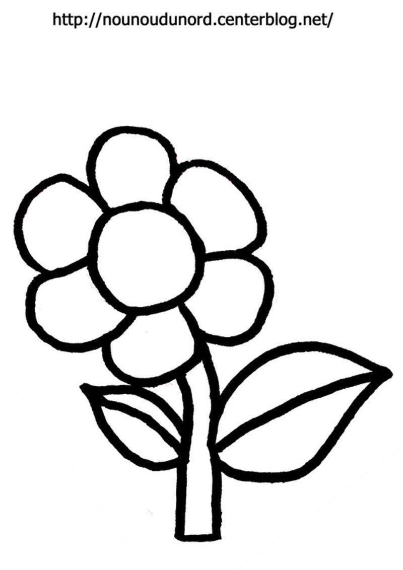 Fleur coloriage pour gommettes en couleur - Fleurs en dessin ...