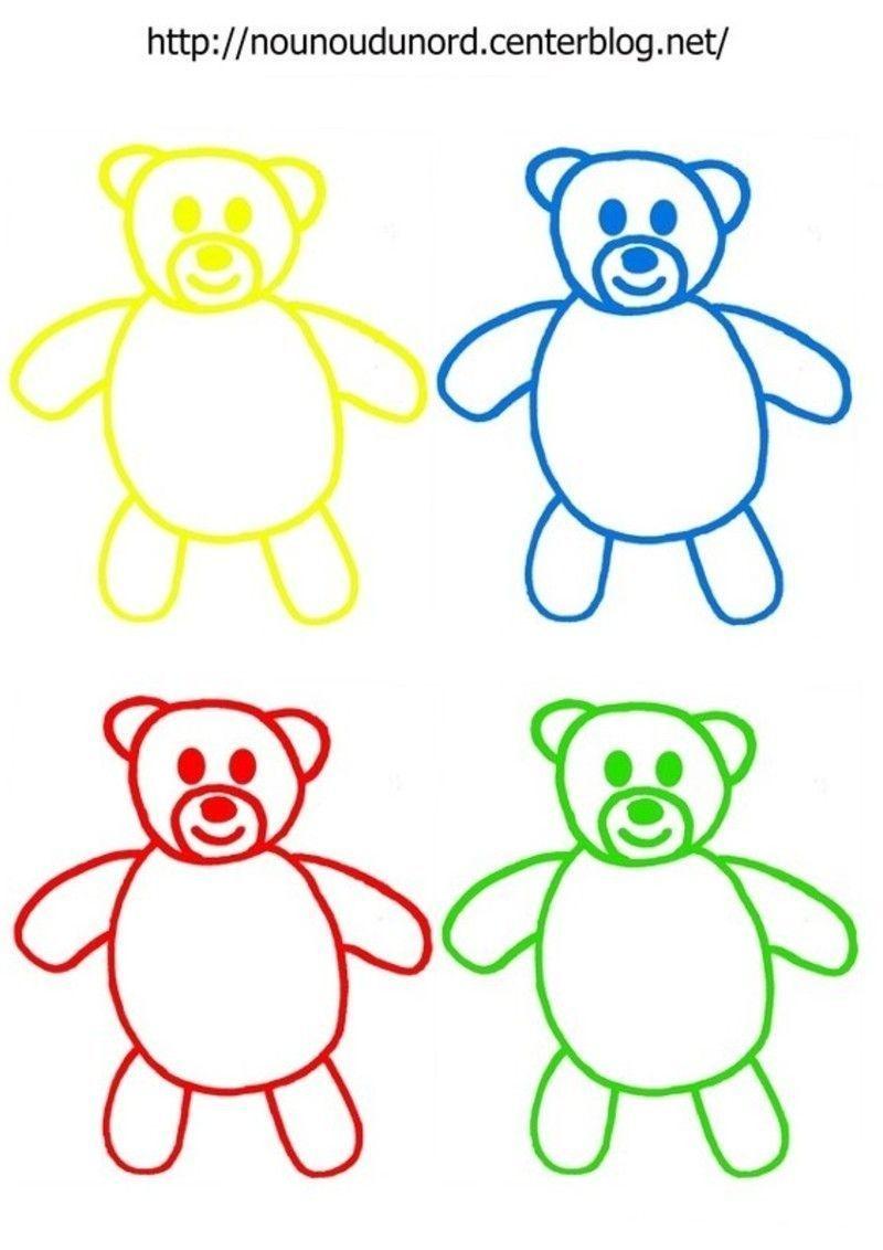 Coloriage nounours - Image de nounours a imprimer ...