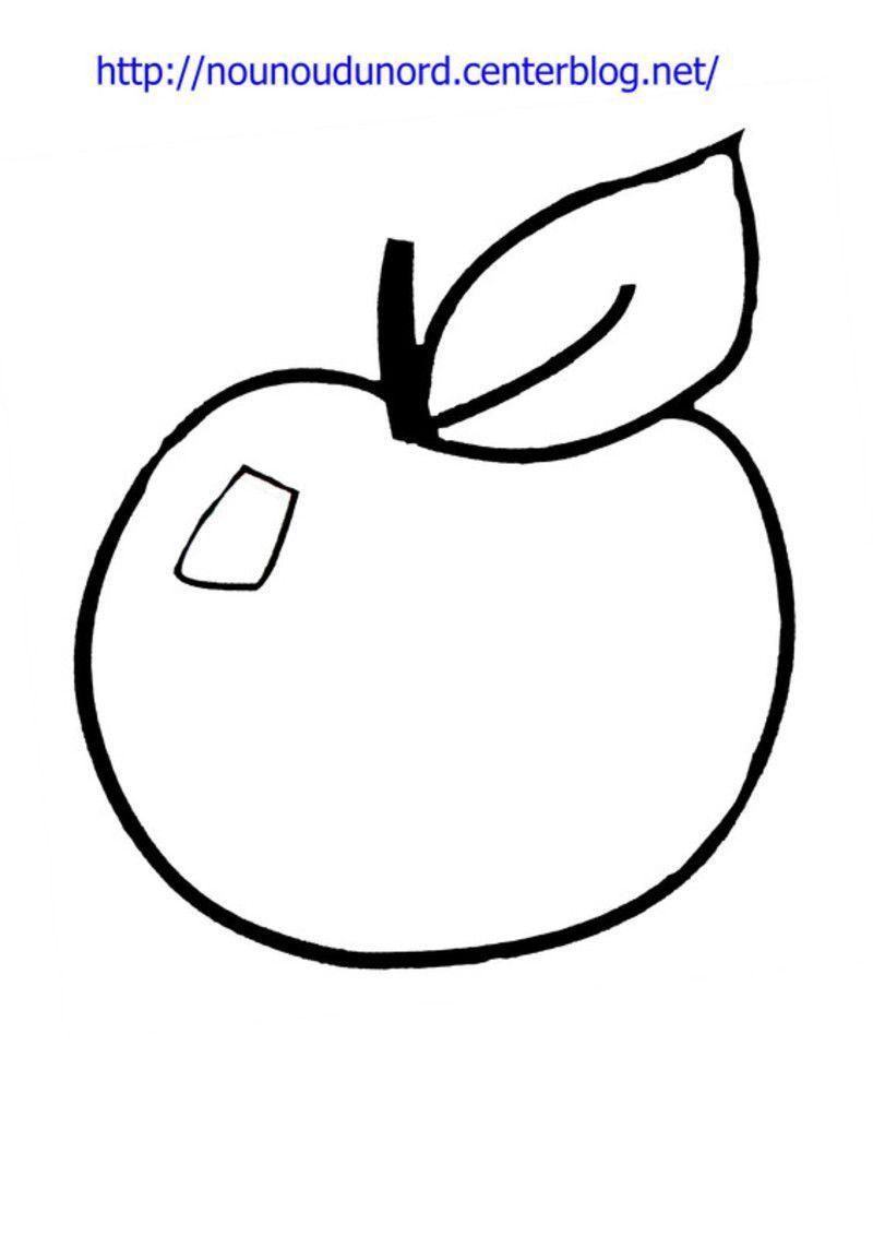 Coloriage gommettes la pomme - Dessin pomme a colorier ...