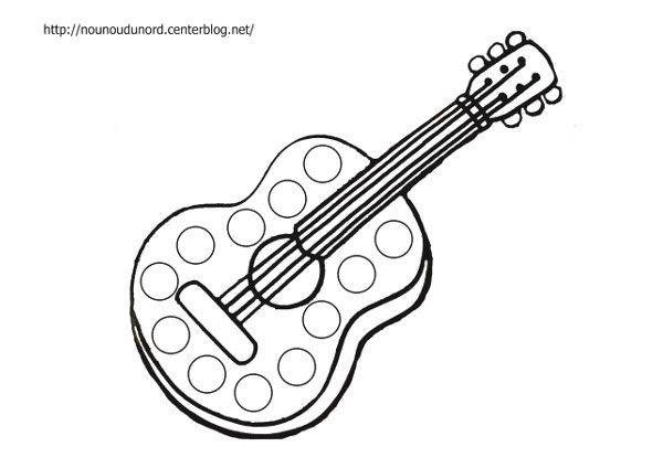 Coloriage Musique Instrument