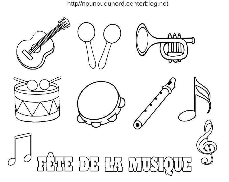 Comment dessiner un instrument de musique pb47 jornalagora - Musique coloriage ...