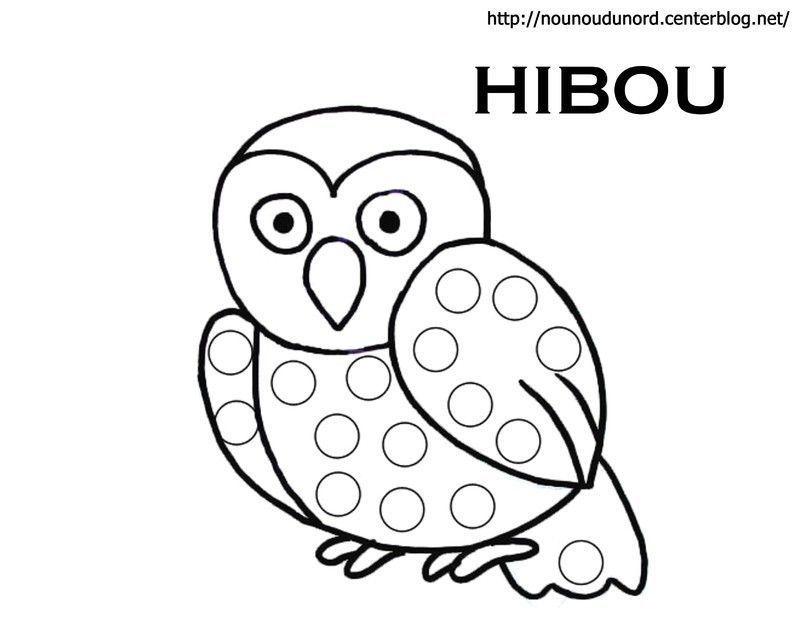 Coloriage halloween hibou - Hibou en dessin ...