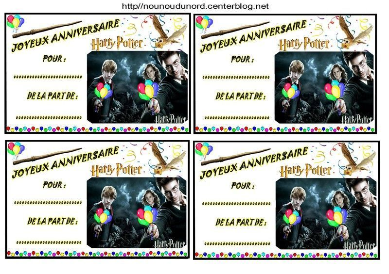modele invitation anniversaire harry potter document online. Black Bedroom Furniture Sets. Home Design Ideas