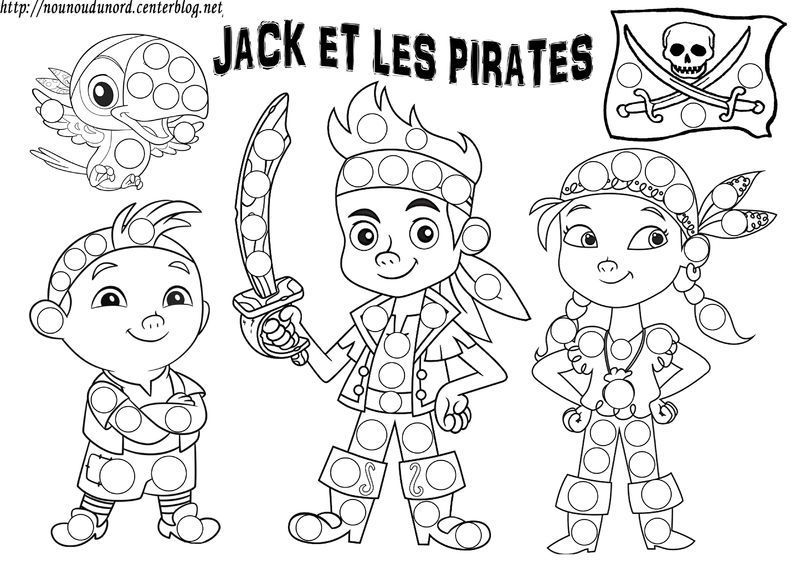 Jake et les pirates coloriage gommettes - Coloriage fille pirate ...