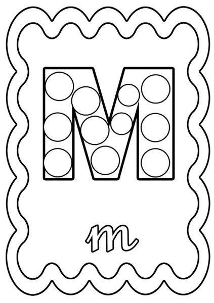 Coloriage Lettre M A Colorier Ou A Gommettes