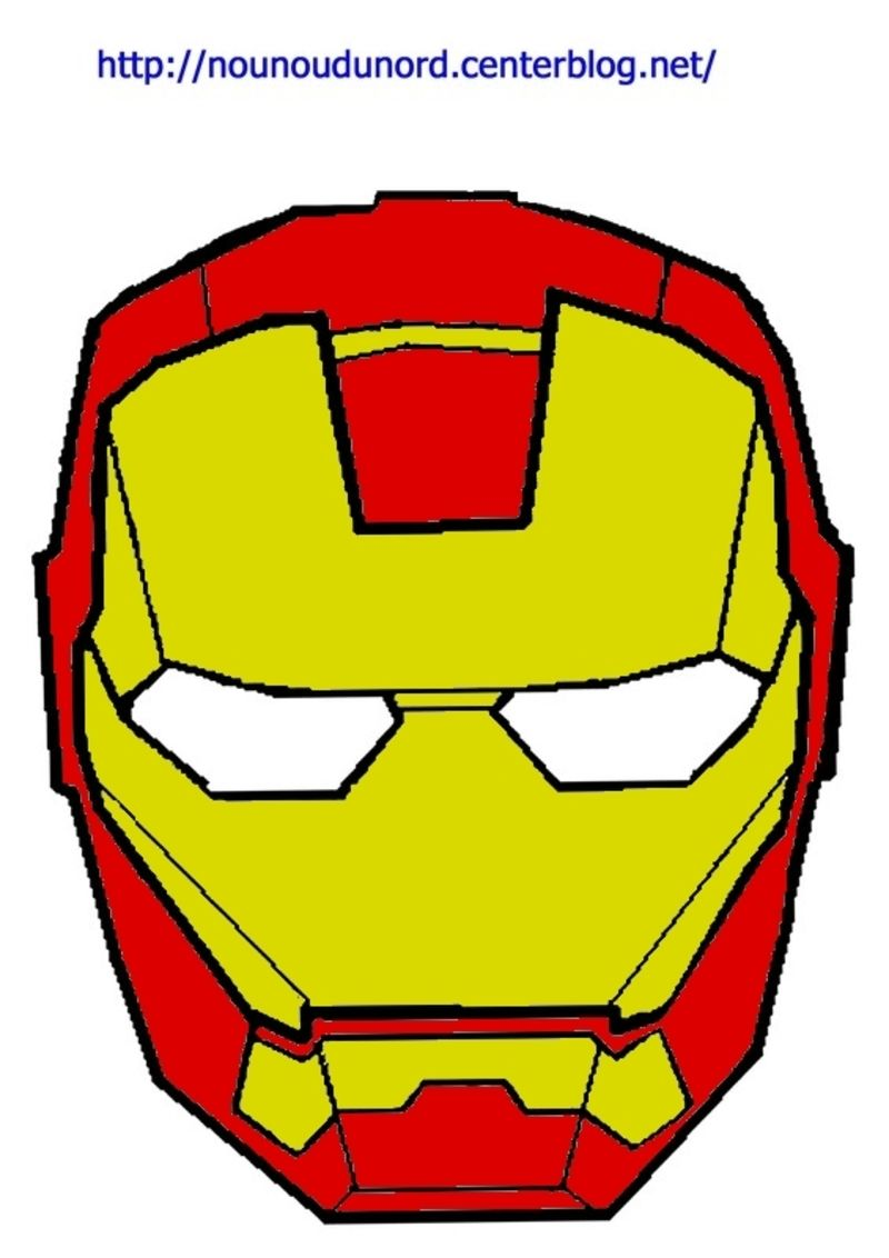 Masque iron man imprimer - Dessiner spiderman facile ...