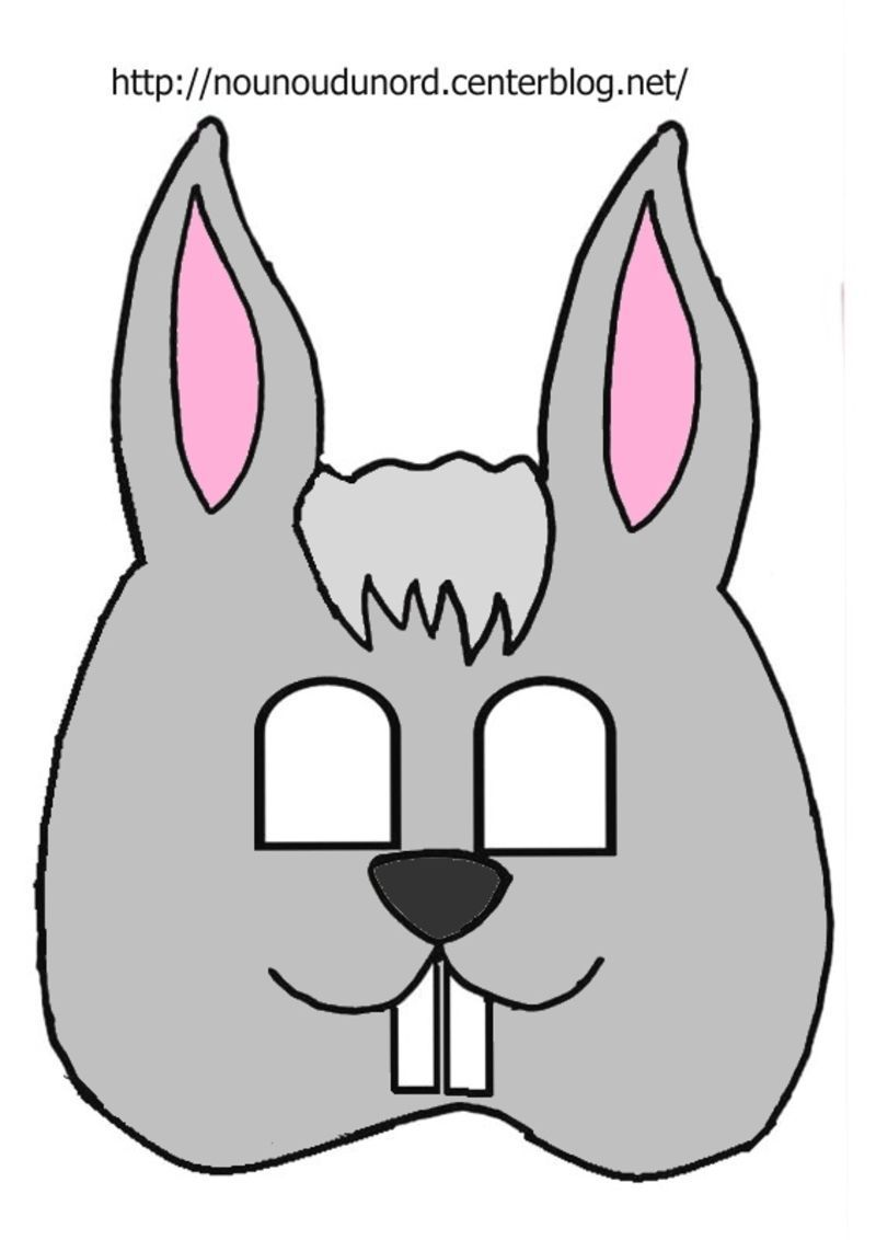 Masque lapin imprimer - Image lapin a imprimer ...