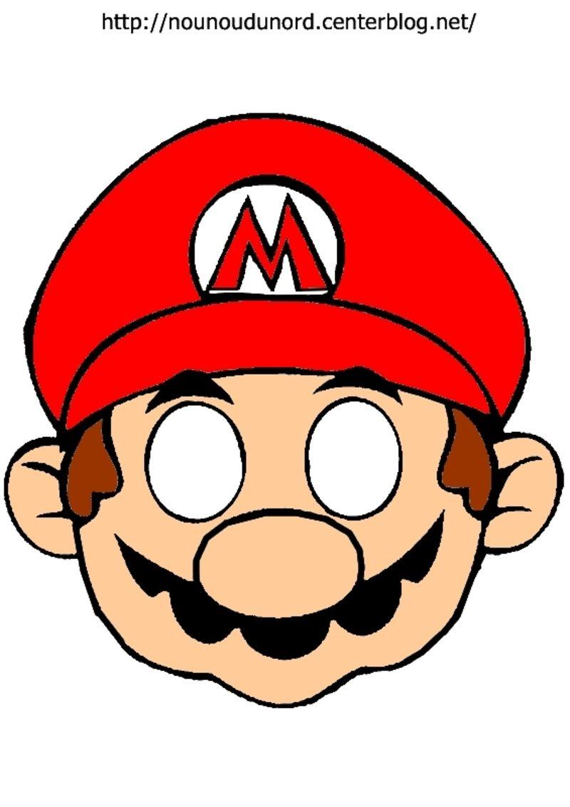 Masque Mario à Imprimer