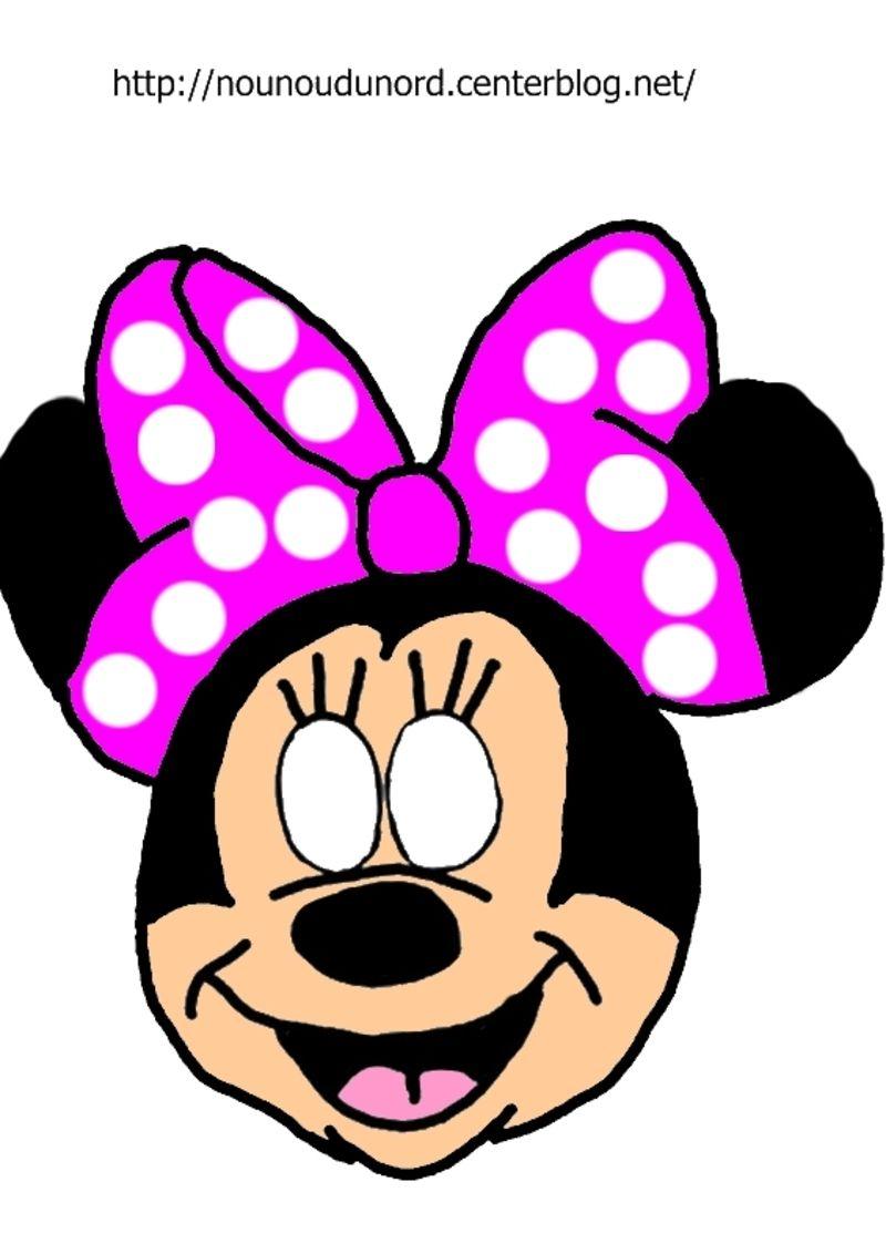 Masque Minnie à Imprimer