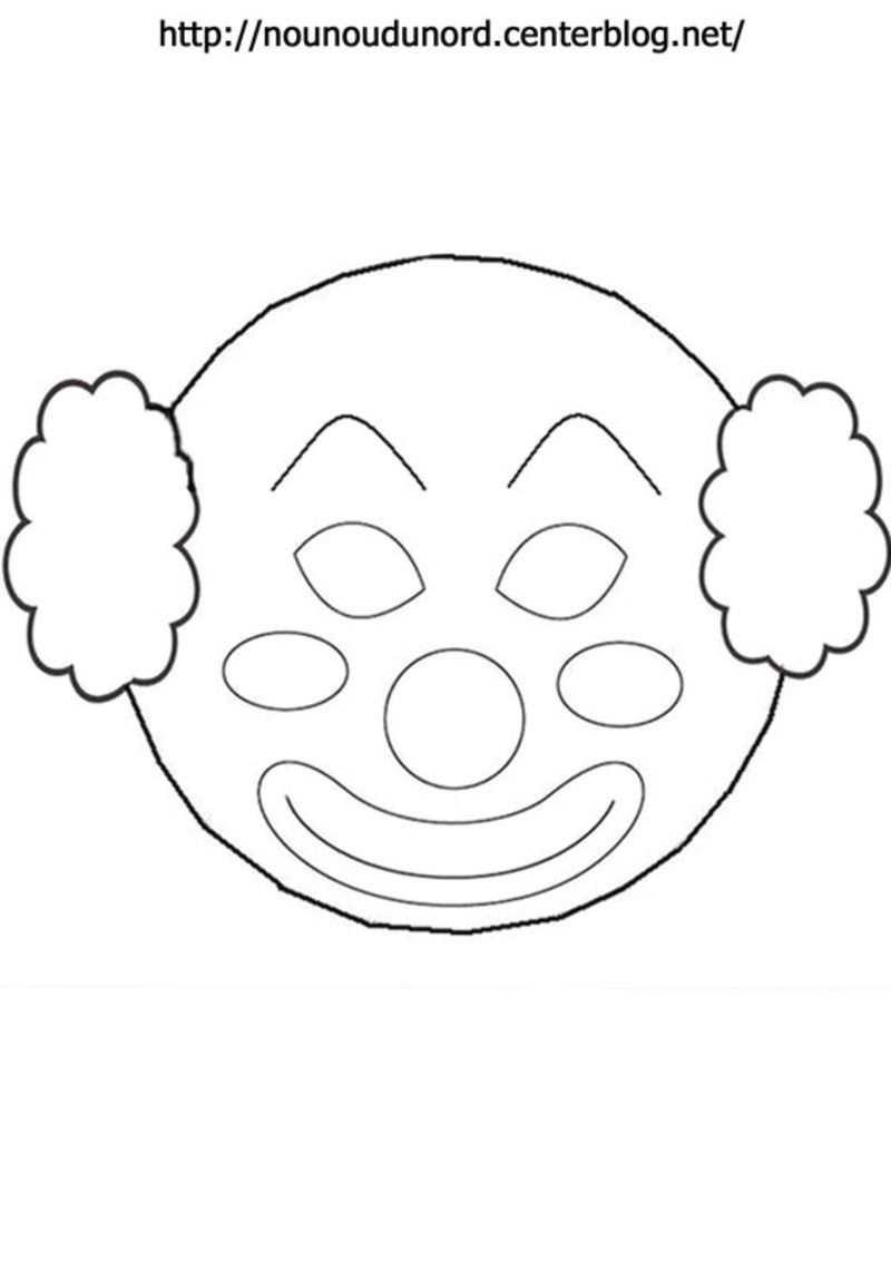 Coloriage clown page 3 - Coloriage masque a imprimer ...