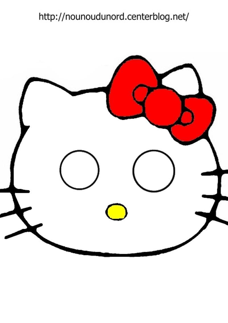 Masque hello kitty imprimer - Hello kitty a imprimer ...