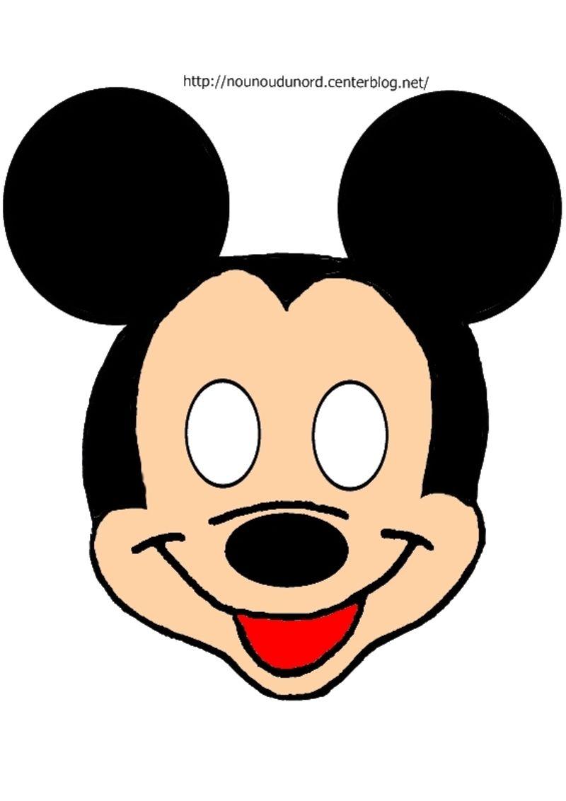 Masque mickey imprimer - Dessin de mickey facile ...