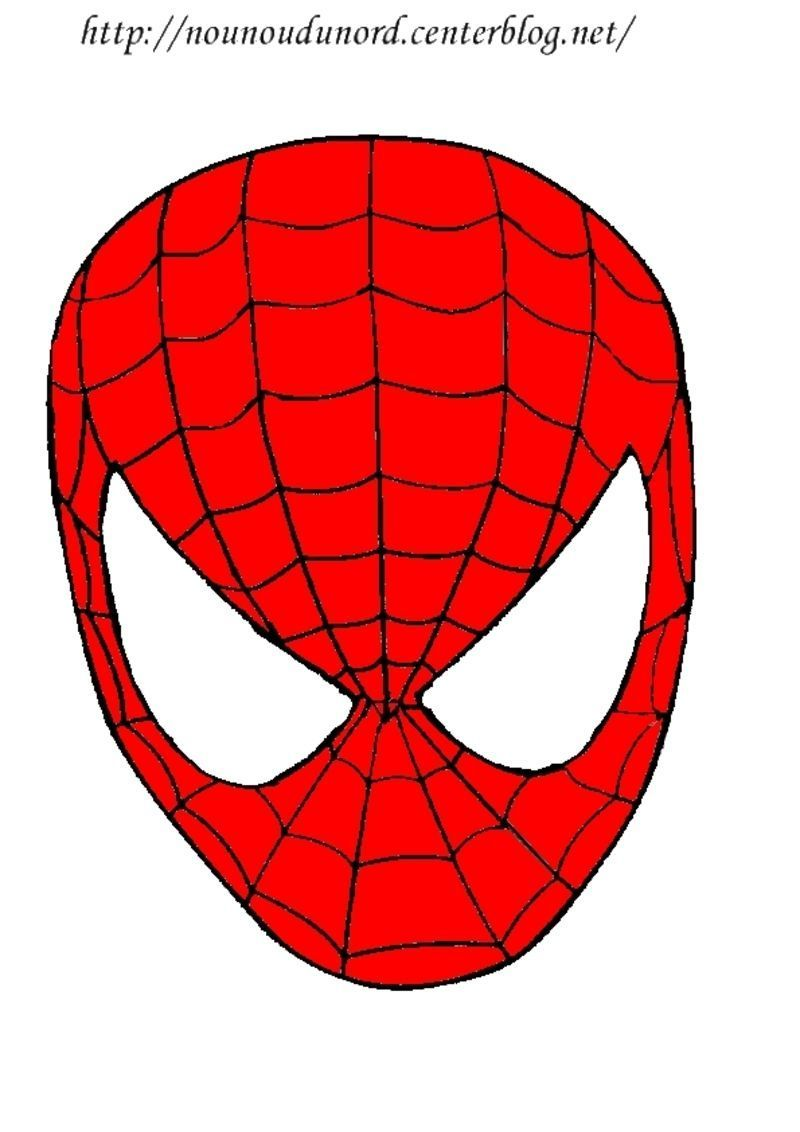Masque spiderman imprimer - Spider man en dessin ...