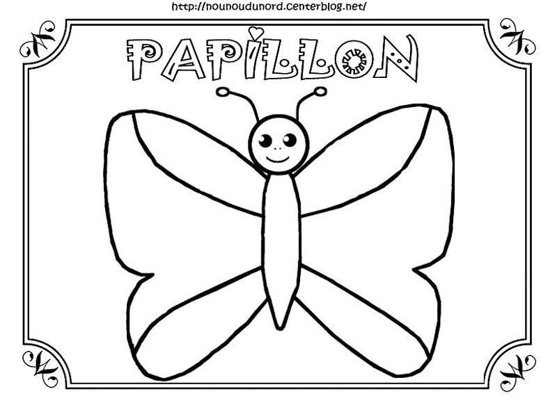 Coloriage Papillon