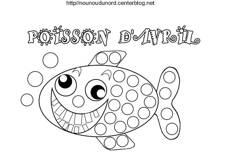 Coloriage Poisson Avril