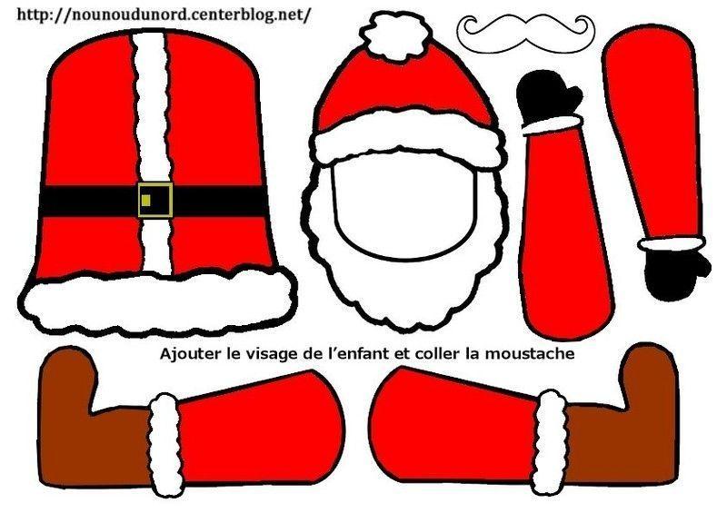 Père Noël Pantin à Colorier Ou En Couleur Petits Modèles